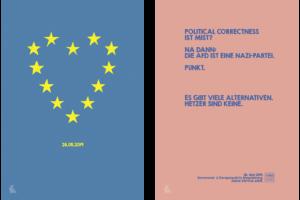 topographic Illustration Poster Europawahl 2019